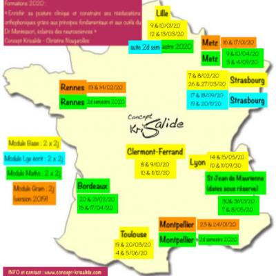 Carte formations 2020